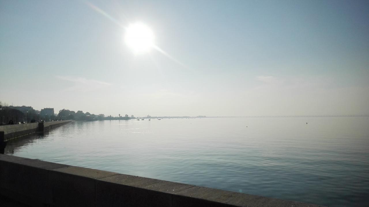 Port d'alcochète avec vue pont Vasco de Gama