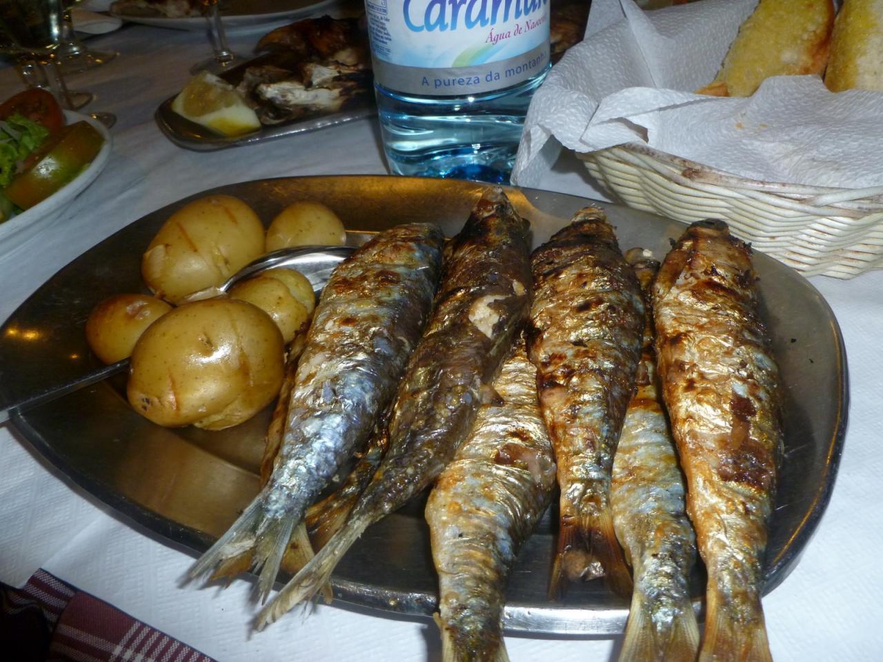 grilled sardine